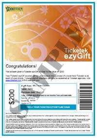 Ticketek Ticket Sample