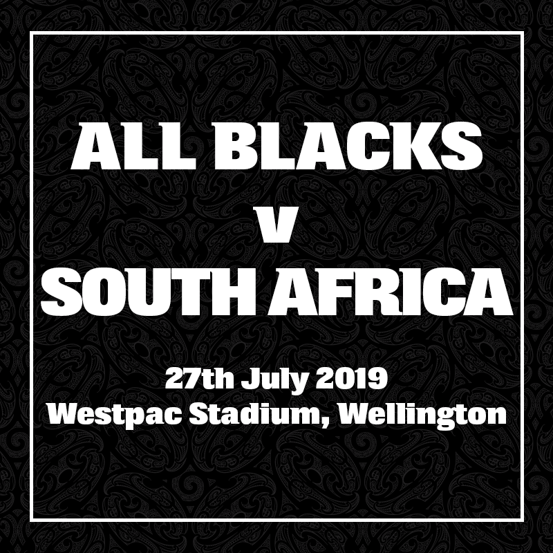 All Blacks v South Africa. 27 July 2019, Westpac Stadium, Wellington