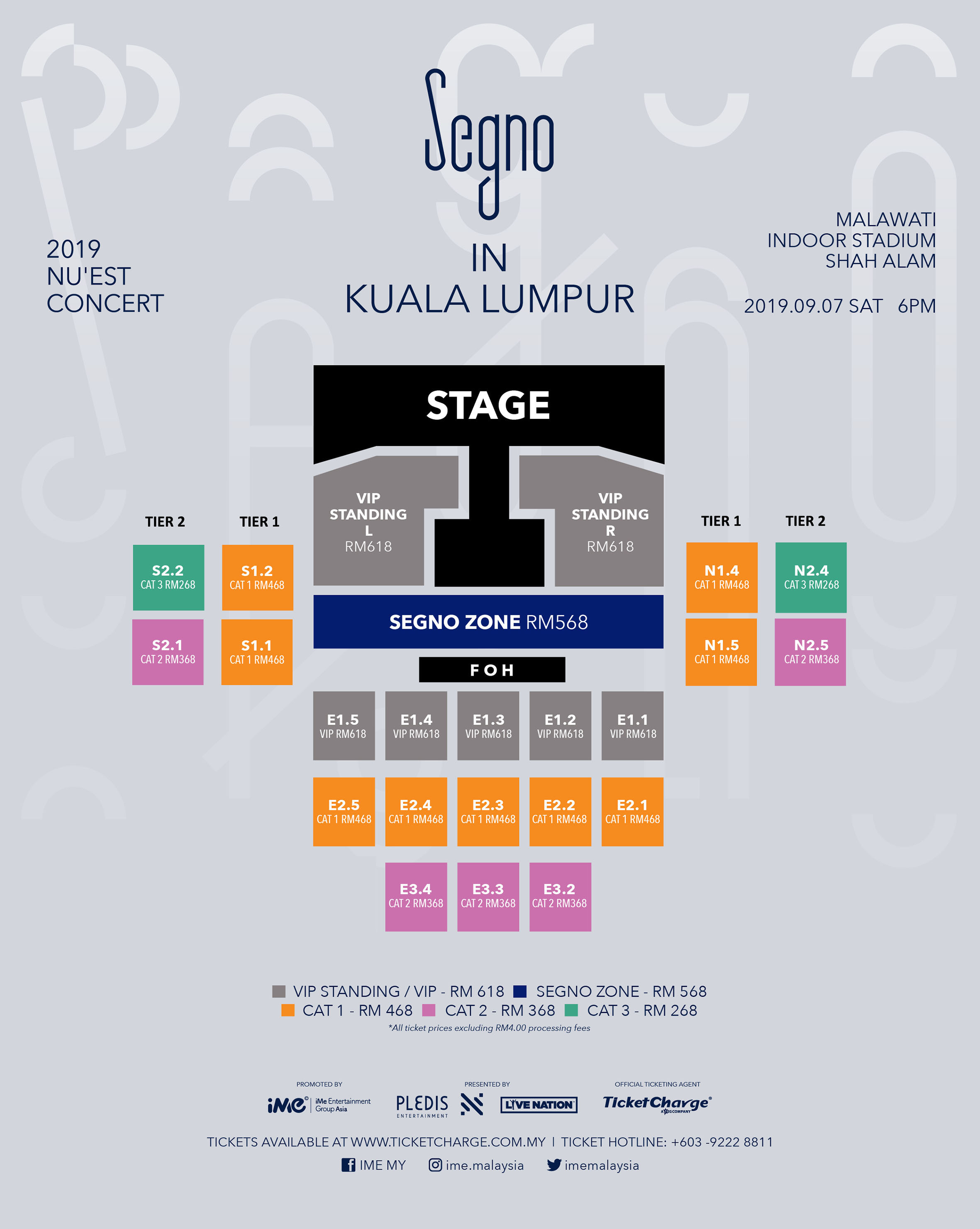 2019 NU'EST CONCERT [SEGNO] IN KUALA LUMPUR Tickets