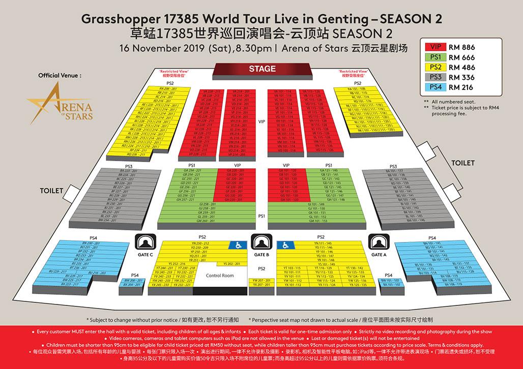 Grasshopper 17385 World Tour Live in Genting S2 | Official Ticketek