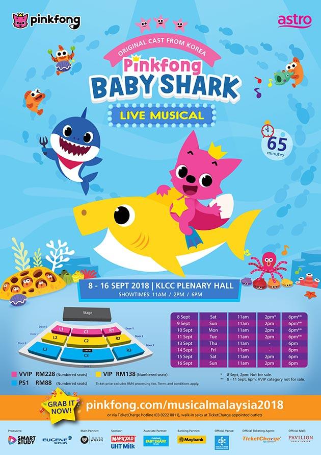 pinkfong baby shark live musical official ticketek. Black Bedroom Furniture Sets. Home Design Ideas